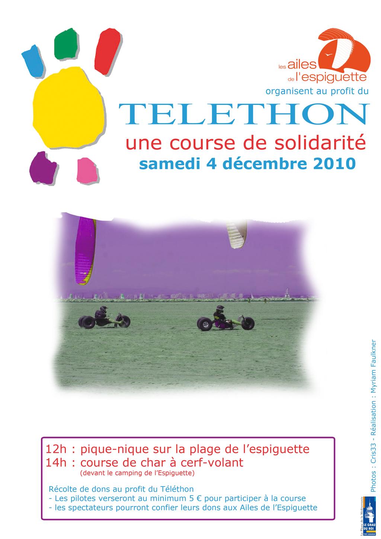 Telethon 2010 - Char à cerf-volant - L'espiguette